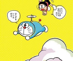 cat, doraemon, and manga image