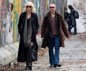 Charlize Theron, james mcavoy, and atomic blonde image