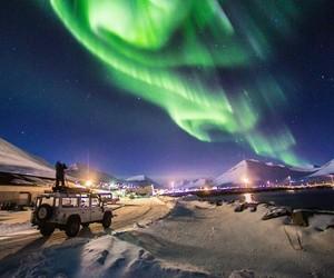 aurora, lights, and travel image