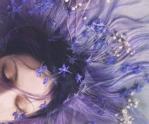 photography, girl, and lilac image