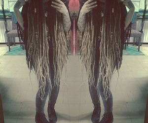dreadlocks, long dreads, and long hair image