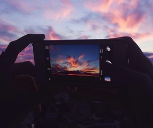 sky, sunset, and nice image