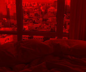 aesthetic, city, and bed image