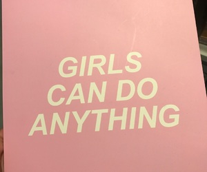 girl power, pink, and quotes image
