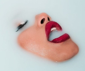 lips, blue, and water image
