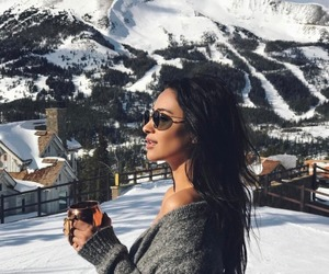 shay mitchell, snow, and winter image