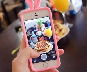 iphone, tumblr, and food image