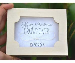 etsy, ring bearer box, and wedding ring box image