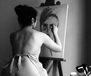 art, b&w, and beauty image