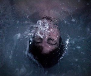 boy, underwater, and water image