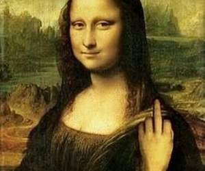 mona lisa, art, and funny image