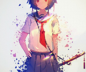 anime, anime girl, and shattered image