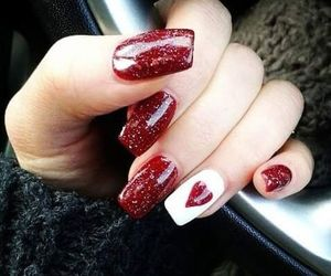 designs, nails, and valentinesnails image