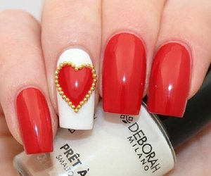 designs, valentines nails designs, and nails image