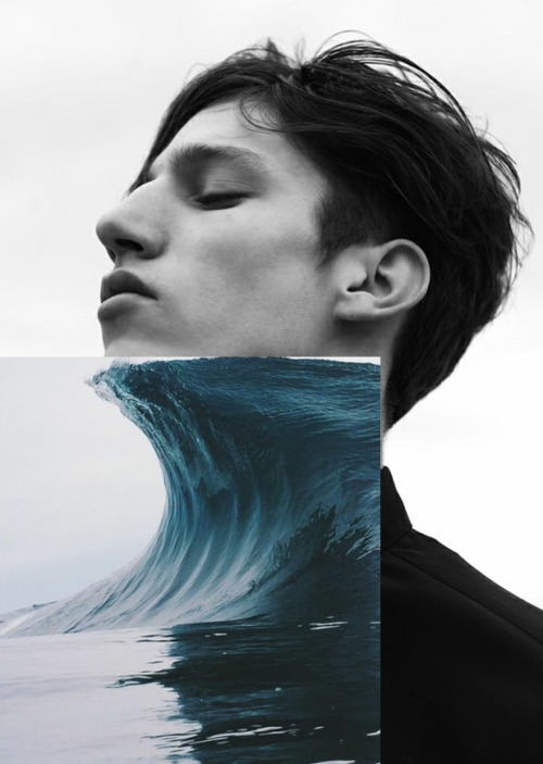 boy, art, and ocean image