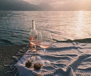 amazing, champagne, and beach image