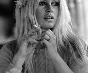 brigitte bardot, cigarette, and smoke image