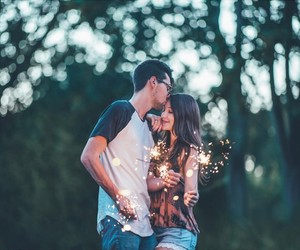 brandon woelfel, couple, and lights image