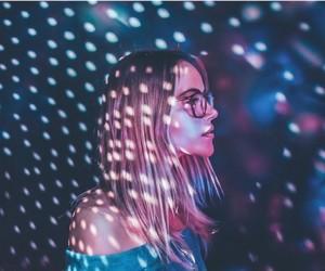 beauty, girl, and light image