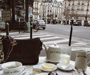 chanel, france, and cafe image