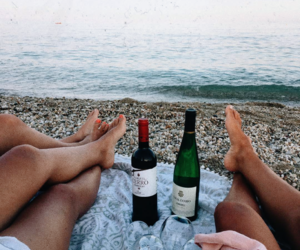 beach, chill, and feet image