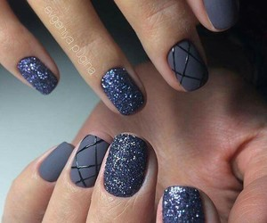 glitter, nail, and style image