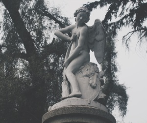 angel, grey, and park image