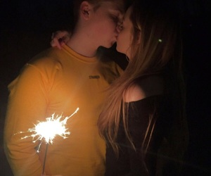 couple, firework, and fireworks image