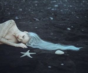 mermaid, fairytale, and fantasy image
