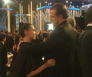 stranger things, millie bobby brown, and david harbour image