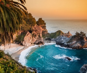 beach, nature, and california image