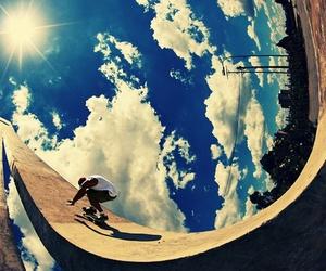 skate, sky, and sun image