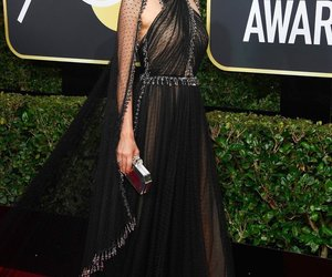 fashion, golden globes, and red carpet image