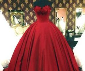 ball gowns, evening dress, and red image