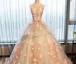 ball gowns, evening dress, and lace image