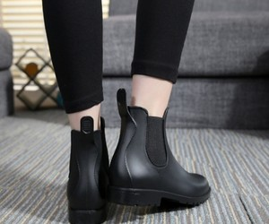 babes, black boots, and boots image