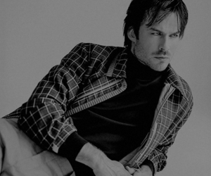 actor, handsome, and black and white image