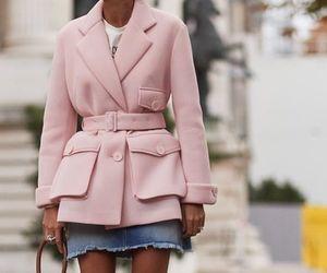 casual, coat, and denim image