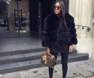fashion, fur, and Louis Vuitton image