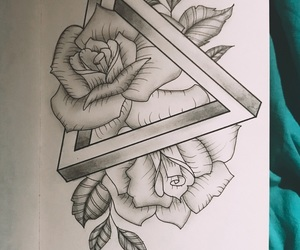 3d, black, and drawing image