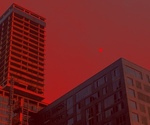 red, aesthetic, and sky image