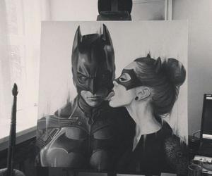 batman, art, and catwoman image
