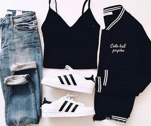 fashion, jean, and chaussure adidas image