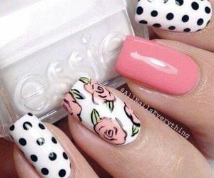 roses, lunares, and nail image