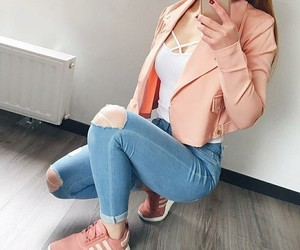 fashion, girl, and jean image