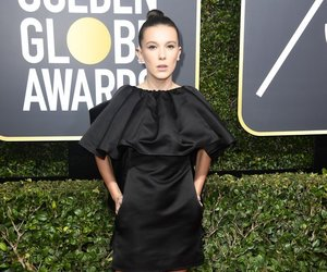 millie bobby brown, golden globes, and stranger things image