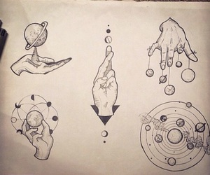 art, levitate, and planets image