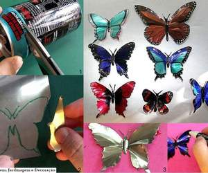 butterfly, diy, and can image