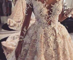 dress, wedding, and fashion image