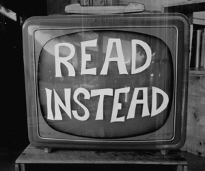 tv, read, and book image